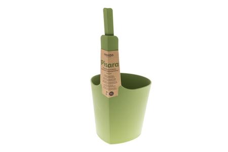 zielony ceber i zielona chochla do sauny